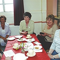 Left to right: Maud Henry (front), Daphne Waller, Fay Campbell, Carol Brown, Jackie Hawkins, Mary Pease. | Geoff Webb