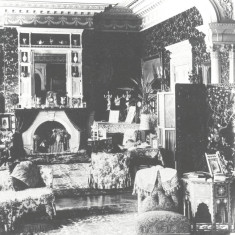 Drawing room at Pendley Manor, c.1900. The photograph clearly shows the clutteres interiors Victorian housemaids were expected to keep clean. | Around Tring, 2nd selection