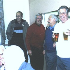 Standing left to right: Pat O'Connor, Peter Penny, Terry O'Dell, Maurice Webb, George Braddon. | Geoff Webb