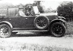 Percy Jarman's Talbot car