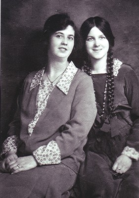 Phyllis (right) is with a friend, c.1932. | Geoff Webb