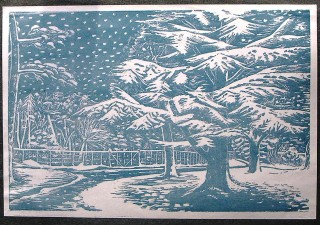 Presdales. Lino cut | Joan Woolard