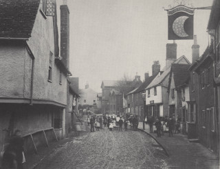 Queen Street. The British Schools are at the end of the street on the right | Hertfordshire Archives and Local Studies