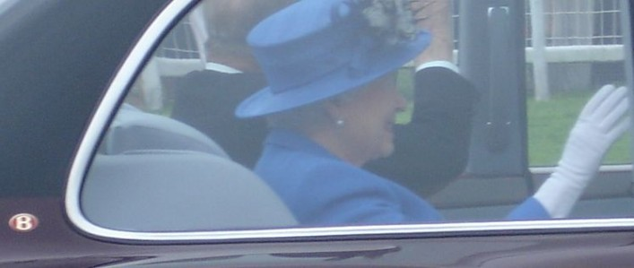 The Queen leading the cavalcade