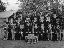 The band outside their new bandroom 1960