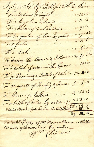 John Radcliffe's election expenses.   Hertfordshire archives and Local Studies. Ref D/ER/042