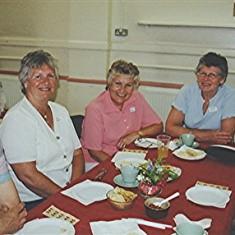 Left to right: Mary Axtell, Jean, Iris and Margaret Reading, Barbara Wheatfill. | Geoff Webb