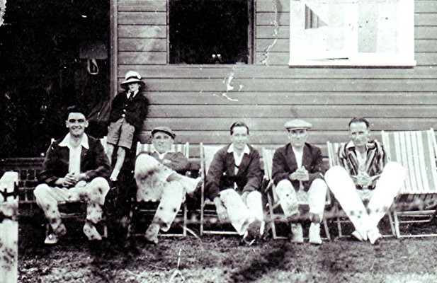 Players from the Cricket Club relax on deckchairs, c.1937 | Geoff Webb
