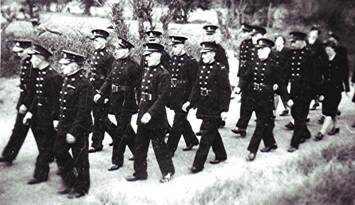 Fire service parade, c.1948 | Geoff Webb