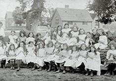 Girls School Class, 1914