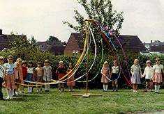Infants School Maypole Dancers, 1980
