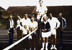 Tennis Club group, early 1980's
