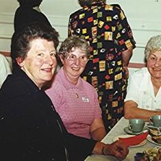Left to right: Valerie Herring, Doreen Fox, Shirley Bewley, Nita Riley.   Geoff Webb