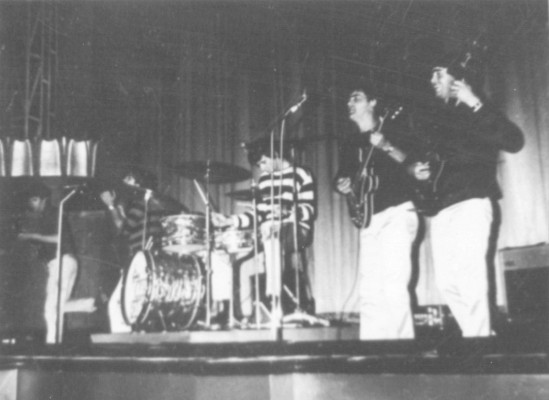 The Mark Four-- Eddie Phillips,Kenny Pickett,Jack Jones Mick Thompson & John Dalton--On stage at The Ritz