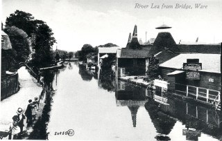 River Lea from the Bridge, Ware | Hertfordshire Archives & Local Studies