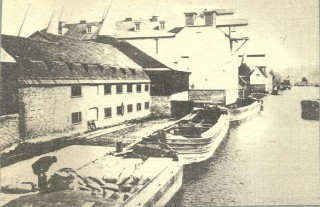 Maltings and barges on the River Lea, Ware, 1920s | Hertfordshire Archives & Local Studies