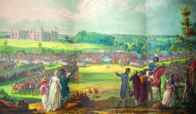Hertfordshire Militia, Hatfield House 1800. [DZ/119/6/342TT] | Hertfordshire Archives and Local Studies