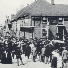 Queen Victoria's Diamond Jubilee celebrations, Market Place, Royston, 1897 | Hertfordshire Archives & Local Studies