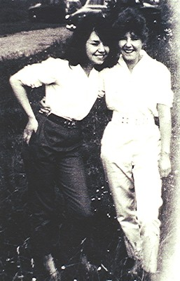 Ruby Lee (right) with a friend   Geoff Webb