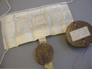 Henry VIII's Royal Charter, 1537 [Ref: DE/Lw/Z1] | Hertfordshire Archives and Local Studies