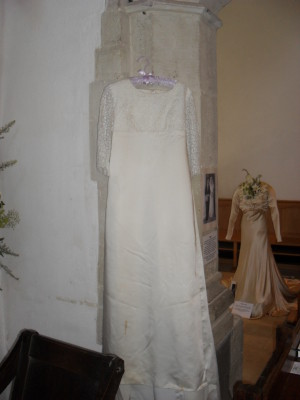 Here comes the bride's dress