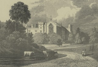 Cassiobury House 1830, drawn by J.P. Neale and engraved by W. Watkins