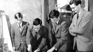 Stephen Hawking (left) as a pupil at at St Albans School in the 1950s