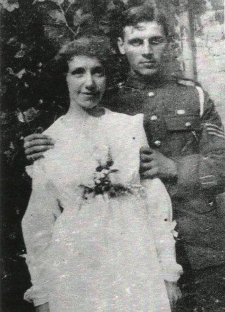 Wedding day photograph, taken in house garden | An old family photograph