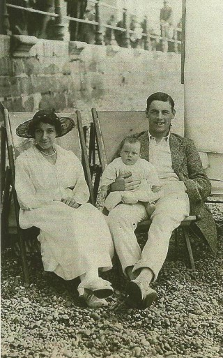 Taken at Hastings in 1920 with first daughter aged 7 months | Family photograph
