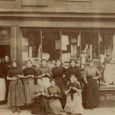 Servants at Stubbins Registry, Bishops Stortford, 1908 | Herfordshire Archives and Local Studies, Red: CV BIS/109