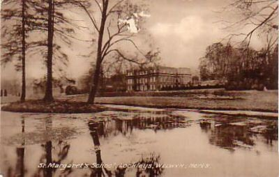 Sherrardswood School. The old house was previously known as Lockleys, and this name is still preserved within the school as the name for the junior department. At the time of this photograph the school was known as