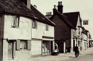 The Come Again Stores next to the Ship, east side, 1948 | Hertfordshire Archives & Local Studies