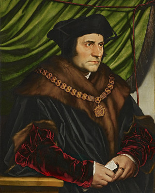 Sir Thomas More by Hans Holbein the Younger in 1527