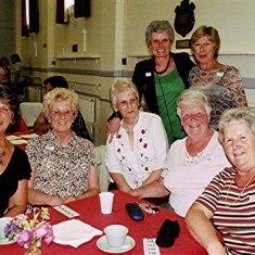 (Left to right): June Smith, Doreen Elding, Rose Maguire, Doreen Bird, Janet Rough, Rita Bird (front), Mavis Lavender. | Geoff Webb