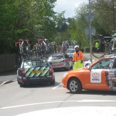 Some of the many team support vehicles | Caroline Churton