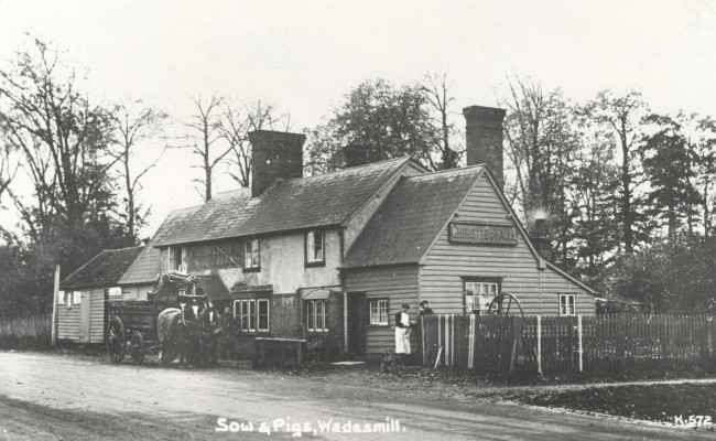 The Sow and Pigs, Thundridge | HALS (Local Studies Library collection)