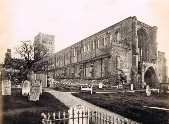 Images of St Albans Abbey before, during and after restoration