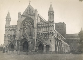 St. Albans Cathedral, the site of his execution, where resides his shrine | Hertfordshire Archives and Local Studies