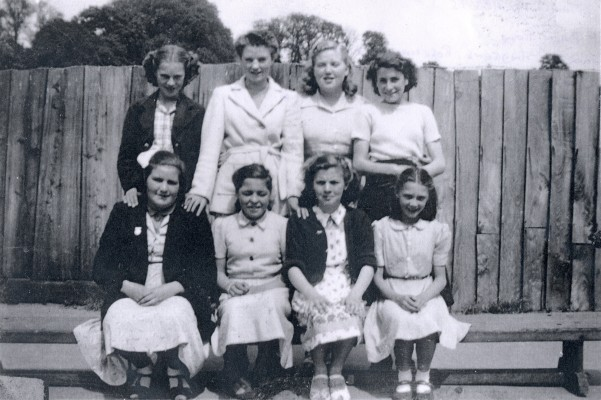 Back row: Jean Andrews, Rosemary Sutton, Shirley Young, Betty Mills. Front row: Janet Salmons, Thelma Hills, Shirley Bird, Pat Dowling | Jean Gilby