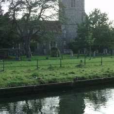 St Augustine's Church, Broxbourne, from the river | Nicholas Blatchley
