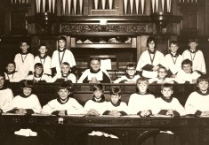The Boys Choir at St Peter's Church, St Albans 1973