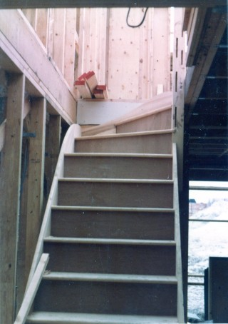 Staircase goes in, March 1983 | Susan Hall
