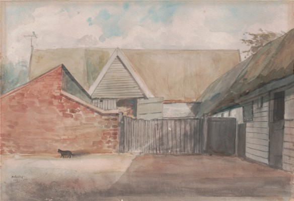 Stebbing's Farm - a watercolour. Date unclear but possibly 1957 | Miss Mabel Culley