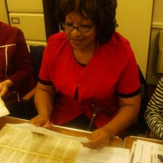 Stevenage Caribbean and African Association visiting the archives | hertfordshire Archives and Local Studies