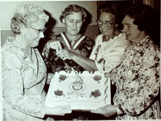 The Guild's 21st birthday.Eileen is standing on the right.