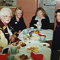 Left to right: Thelma Allen, Mary and Kate O'Hara, Gillian Strange, Joyce Christian, Beryl Hedges. | Geoff Webb