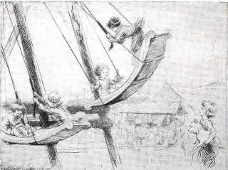 Swingboat detail from