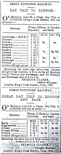 Day trip to London summer 1869 | Herts Express