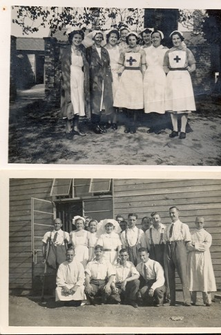 Staff and patients, ward 2, Chalkdell Hospital