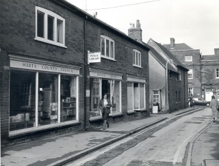 Baldock Library in Bell Row in the early 1980's